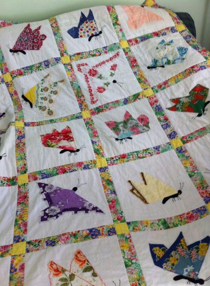 Elegant hankie quilt quilts vintage handkerchiefs crafts 9 New Handkerchief Quilt Patterns