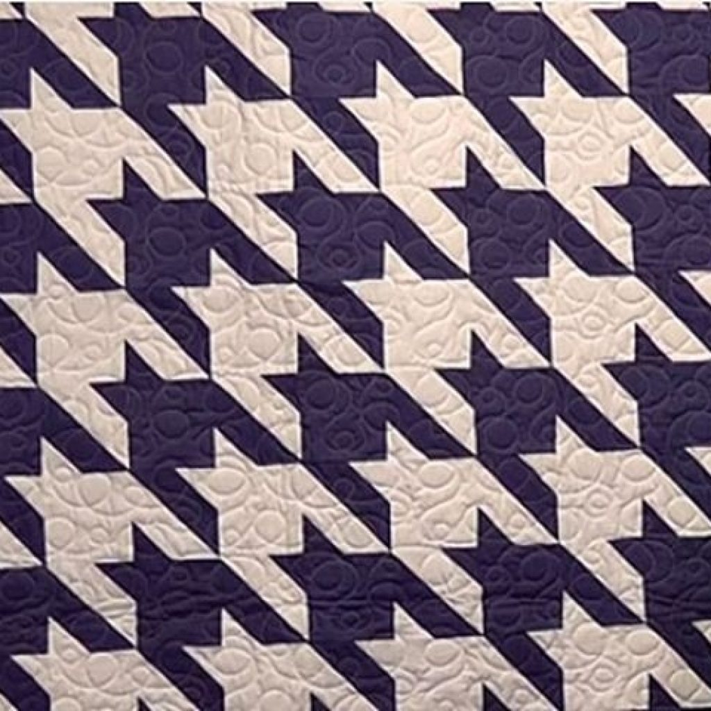 Elegant houndstooth quilt pattern free video tutorial beginner Modern Houndstooth Quilt Pattern Inspirations