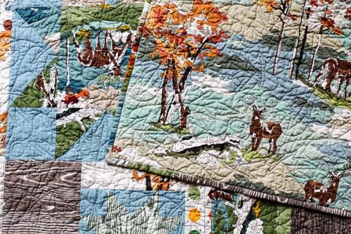 Elegant in color order deer sparkling cider quilt 11 Modern Deer Fabric For Quilting Inspirations
