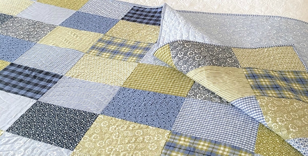 Elegant let the fabric shine in a simple patchwork quilt quilting 9   Easy Patchwork Quilt Pattern Gallery