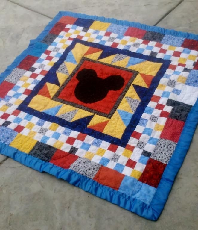 Elegant mickey mouse ba quilt project on craftsy mickey 9 Cool Mickey Mouse Quilt Pattern
