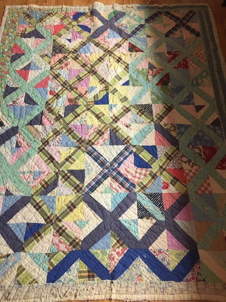Elegant old vintage antique hand stitched quilt quilting crafts 9 Stylish Vintage Hand Stitched Quilts