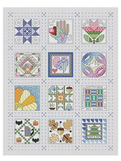 Elegant quilt block of the month cross stitch pattern 9 Unique Cross Stitch Quilt Block Patterns Gallery