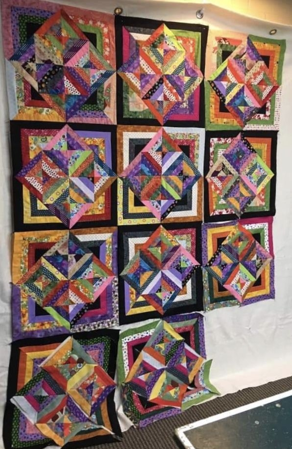 Elegant scrappy quilts quilting inspiration quilt wall quilts Stylish Quilting Pinterest