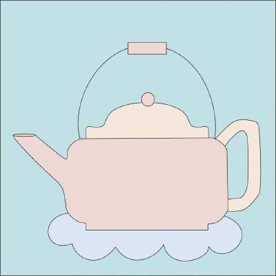 Elegant teapot quilt block howstuffworks 10 Beautiful Teapot And Teacup Patterns For Quilt Blocks