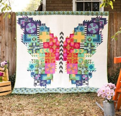 Elegant true colors the butterfly quilt kit quiltingpatchwork 10   Tula Pink Butterfly Quilt Pattern