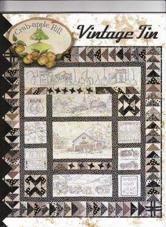 Elegant vintage tin embroidery quilt pattern Cool Vintage Tin Quilt Kit