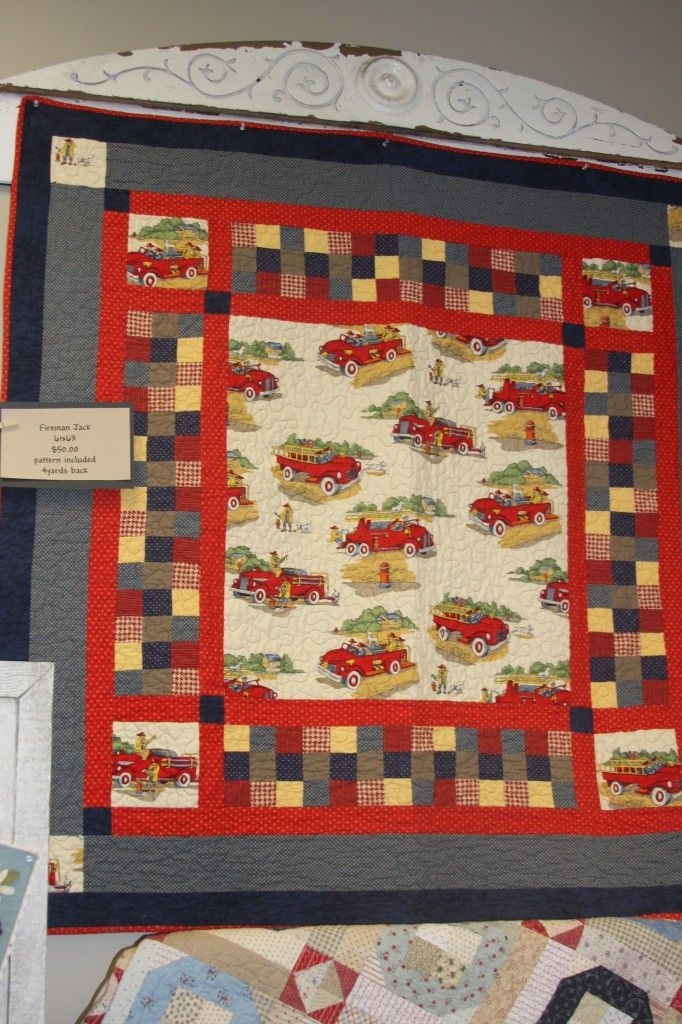 fireman jack at american quilting love fireman quilt 11 Modern Firefighter Quilt Patterns