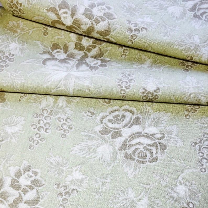 floral quilt back fabric classics moda tan flowers iris tulips and grapes on sage green 57 wide 9 Unique Beautiful Moda Wide Quilt Fabric