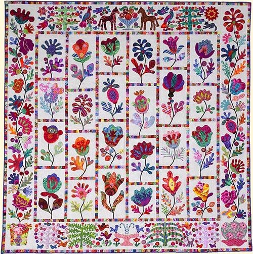 flower garden from glorious color Interesting Kim Mclean Quilt Patterns
