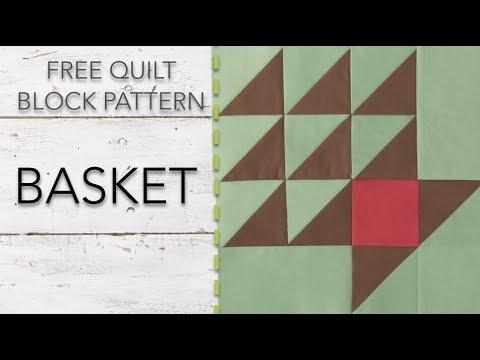 free quilt block pattern basket 11 Interesting Basket Quilt Block Patterns Inspirations