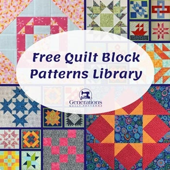 free quilt block patterns library 11 Unique Block In A Block Quilt Pattern