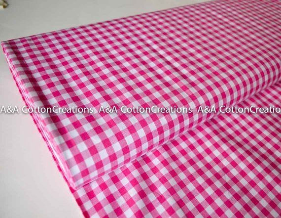 fuchsia 14 plaid cottoncarolina ginghamraspberry yarn 10 Stylish Gingham Quilting Fabric Inspirations