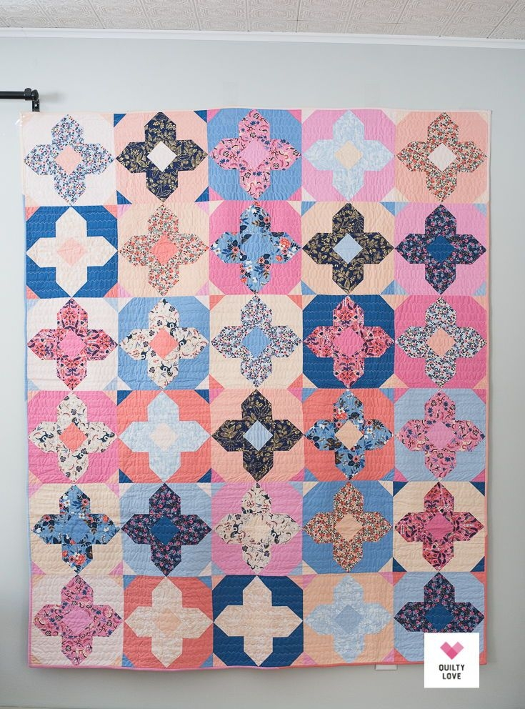 geo gems pdf quilt pattern digital download quilt 10 Interesting Gemstomes Quilt Pattern Free