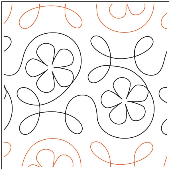 ginger flower quilting pantograph pattern from apricot moon designs 10 Interesting Pantograph Patterns For Quilting