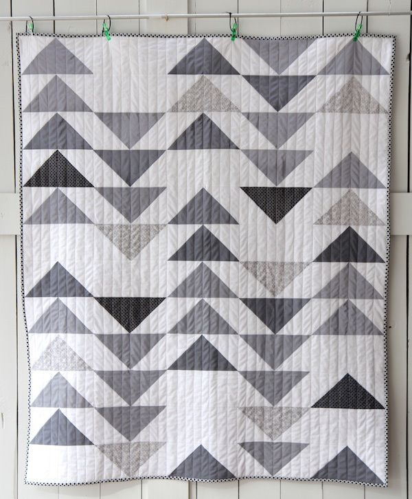 grey goose quilt flying geese quilt modern quilt patterns 11 Beautiful Flying Goose Quilt Pattern