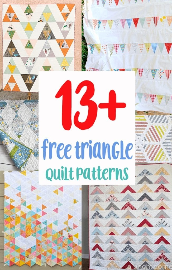 Interesting 13 free triangle quilt patterns for beginners coral co Beautiful Free To Download Easy Scrap Quilt Patterns Gallery