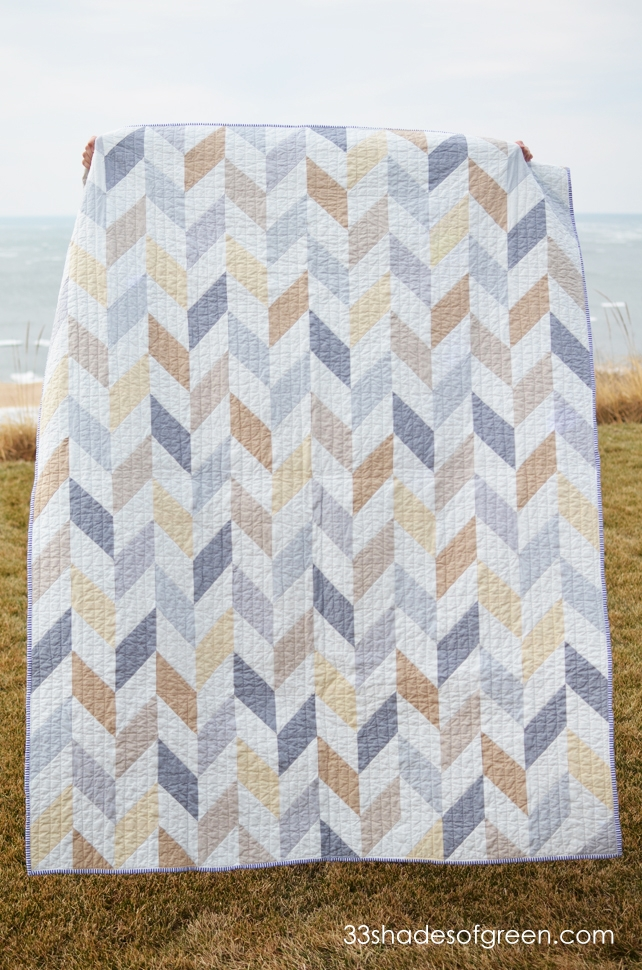 Interesting 33 shades of green neutral colors chevron quilt for sister 11   Quilting Chevron Pattern Gallery