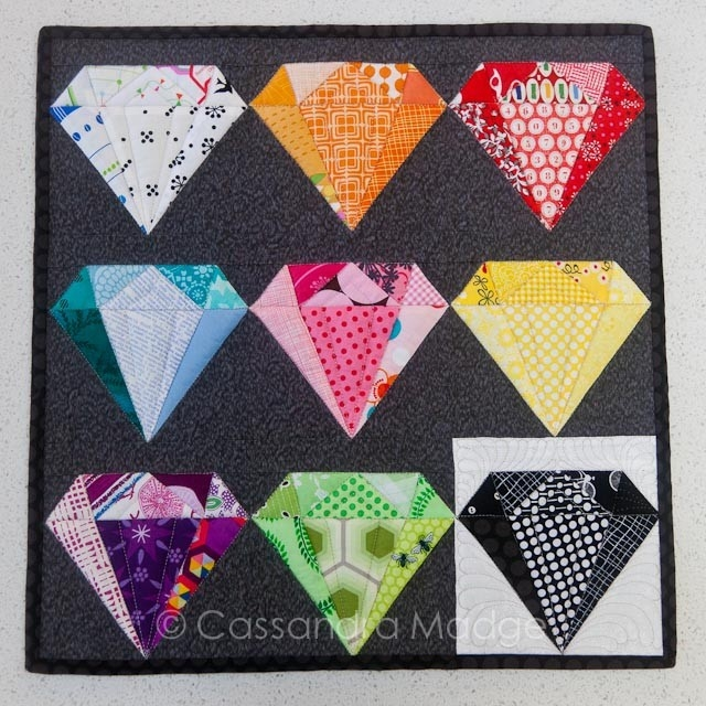 Interesting a rainbow of gemstones cassandra madge 10 Interesting Gemstomes Quilt Pattern Free