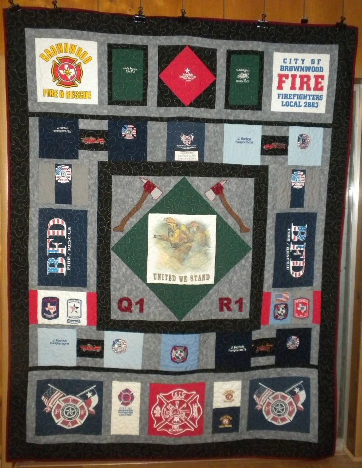 Interesting another fireman quilt tshirt quilt pattern fireman quilt 11 Modern Firefighter Quilt Patterns