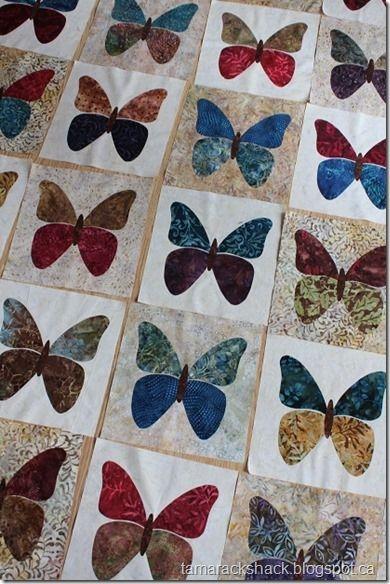 Interesting butterflies butterfly quilt pattern applique quilts 10 Unique Butterfly Quilt Pattern Block
