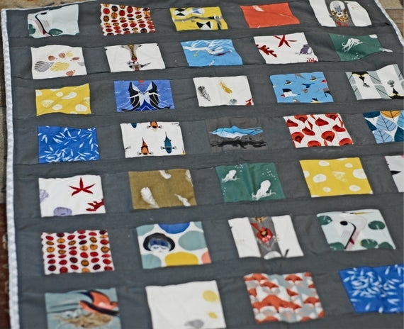 Interesting charley harper fabric handmade quilt twin size quilt queen size quilt modern ba quilt modern bedding 11 Beautiful Stylish Charley Harper Quilt Fabric Ideas Gallery