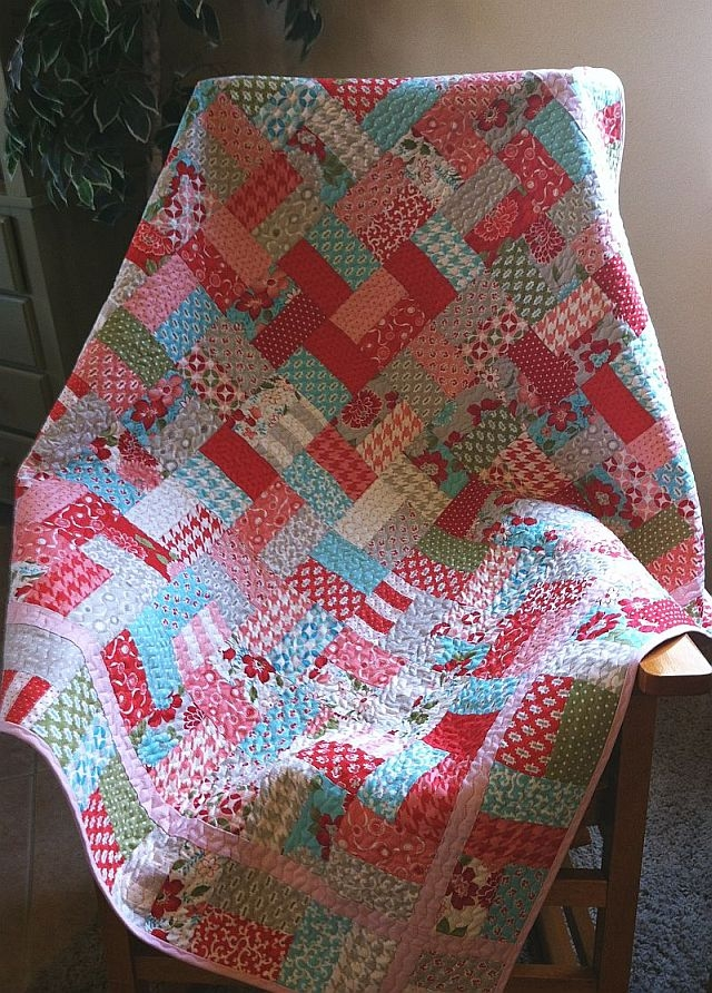 Interesting christas quilts the jolly jelly roll quilt christa quilts Elegant Jelly Roll Patchwork Quilt Patterns Inspirations