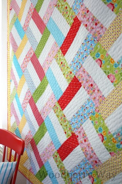 Interesting easy strip quilt pattern from woodberryway quiltstory Interesting Easy Strip Quilt Patterns Gallery