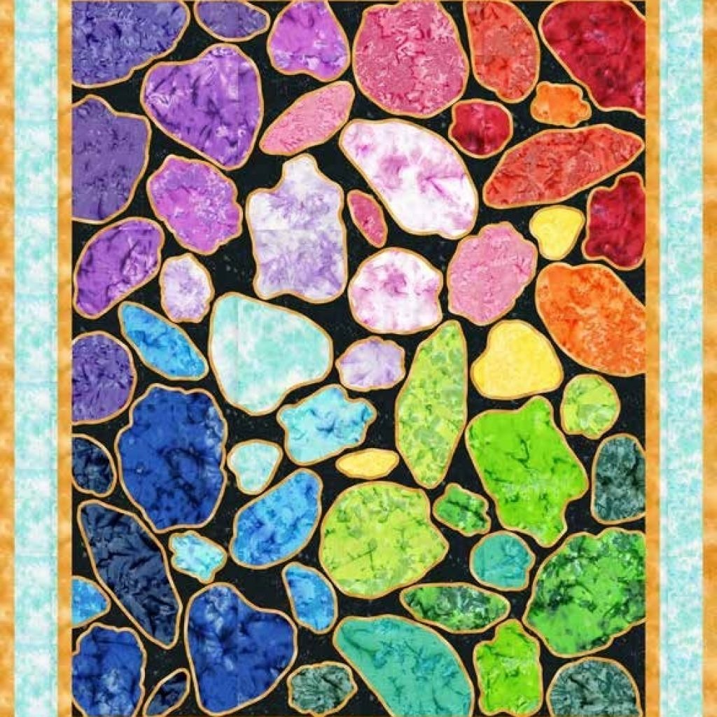 Interesting free pattern gemstones quilt 10 Interesting Gemstomes Quilt Pattern Free