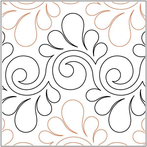 Interesting fresco feathers quilting pantograph pattern lorien 9 Elegant Pantograph Quilting Patterns