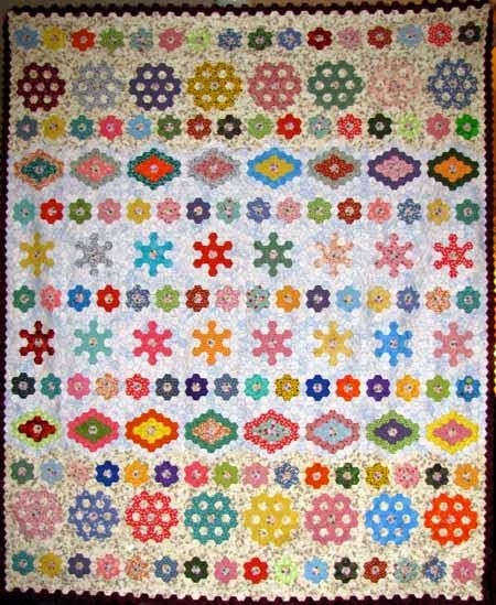 Interesting hexagon quilt patterns what are quilters blogging about Cool Hexagon Quilt Patterns Designs