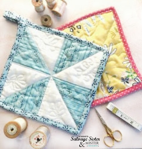 Interesting how to sew quilted fabric scraps pot holders salvage 11 Unique Quilted Sewing Fabric Inspirations