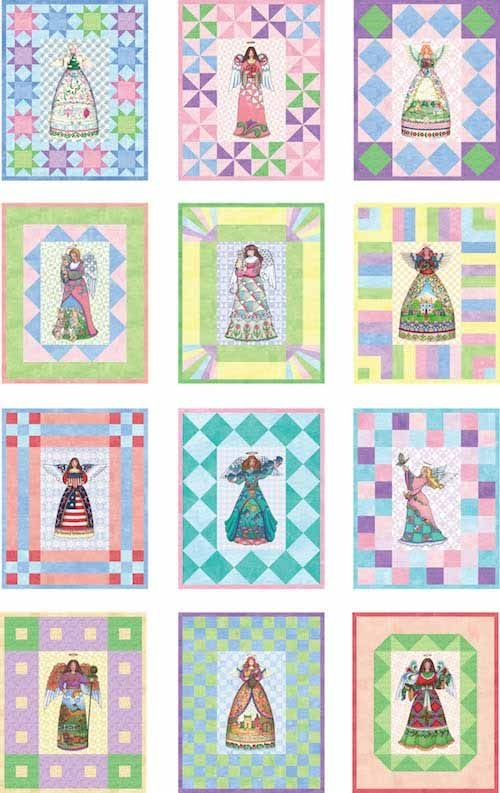 Interesting jim shore angels block of the month lqk16116 quilt 9 Elegant Beautiful Jim Shore Quilting Fabric Ideas Gallery