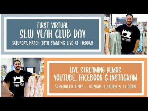 Interesting live virtual sew yeah club demo patterns youtube in 2020 9 Modern Sew Yeah Quilting Las Vegas Gallery