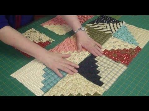 Interesting log cabin quilt block using honey bun strips 9 Elegant Honey Bun Quilt Patterns Inspirations