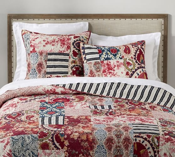 Interesting malbi patchwork cotton quilt sham pottery barn Modern Pottery Barn Quilts Gallery