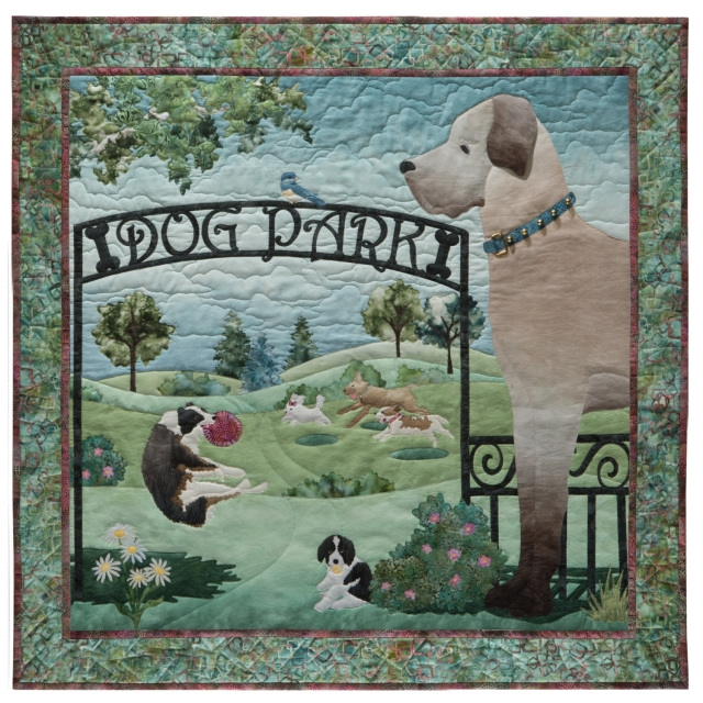 Interesting mckenna ryan quilt pattern dog park 1 unleashed gate dogs loose in park diy quilting Modern Mckenna Ryan Quilt Patterns Inspirations