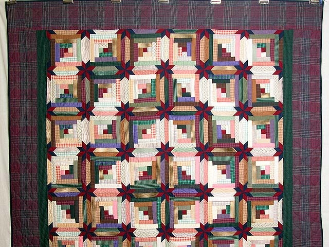 Interesting multicolor colorado log cabin quilt hannahs quilts 9 Beautiful Colorado Log Cabin Quilt Pattern Inspirations
