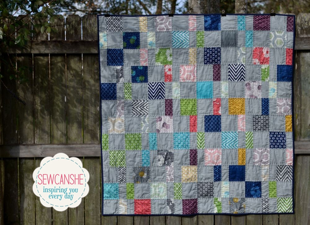 Interesting my charm pack cherry quilt from a free pattern sewcanshe Modern Charm Pack Quilt Patterns Moda Gallery
