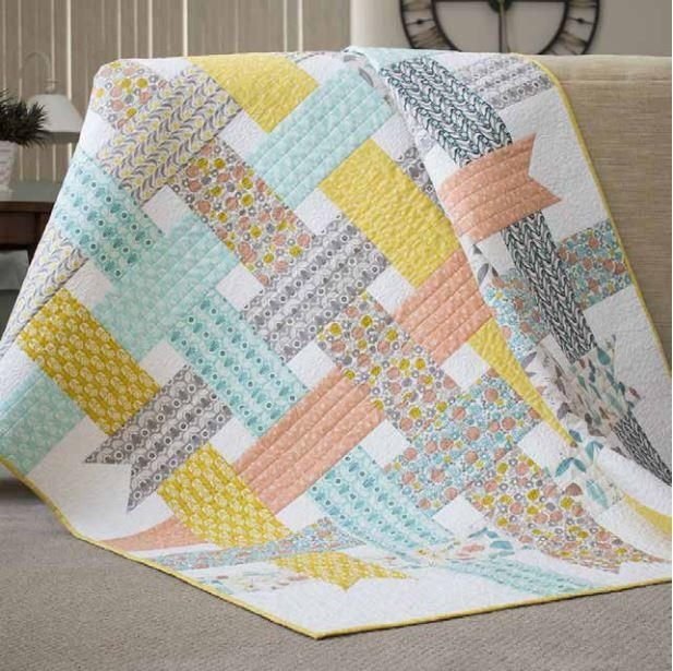 Interesting nordic ribbons ba quilt pattern modern quilt patterns Stylish Patchwork Baby Quilt Patterns Free