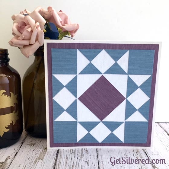 Interesting paper patchwork square star quilt 11 Stylish Silhouette Quilt Patterns Inspirations