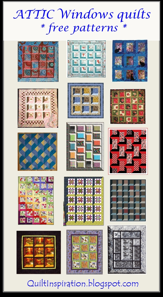 Interesting quilt inspiration free pattern day attic windows quilts 11 Stylish Attic Window Quilt Patterns