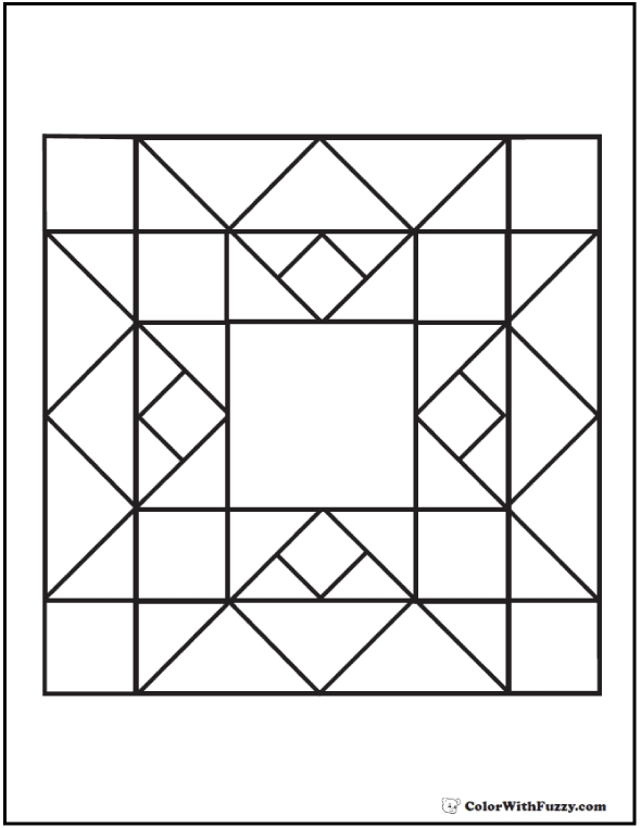 Interesting quilt pattern coloring page flame diamond squares 11 New Quilt Patterns Coloring Pages Inspirations