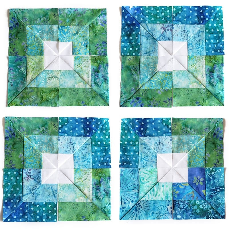 Interesting seaside squares lap quilt easy square in square quilt block 9 Unique Square In A Square Quilt Pattern