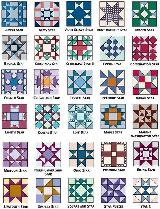 Interesting star quilt block patterns for an astronomical block 11 Interesting Traditional Quilt Pattern Names