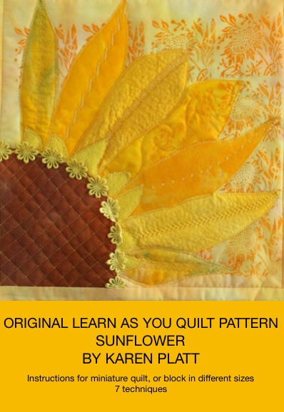 Interesting sunflower quilt pattern quilted wall picture 10 Interesting Sunflower Quilt Pattern For Beginners Gallery