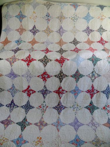 Interesting vintage antique handmade quilt 1930s periwinkle star 11 Unique Vintage Quilts On Ebay Gallery