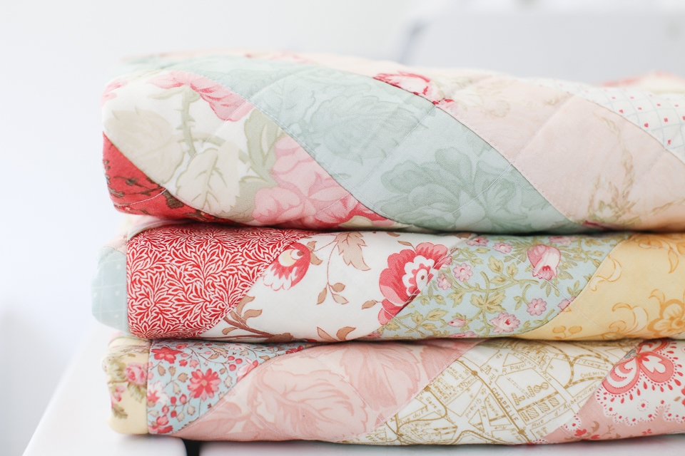 Interesting vintage paris floral quilt loganberry handmade 9 Interesting Vintage Floral Quilts Gallery