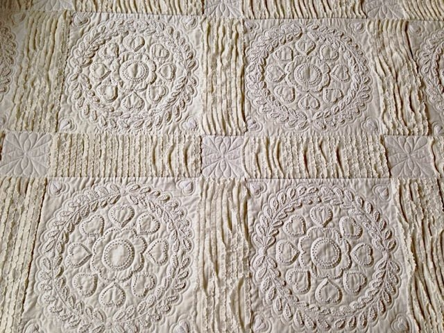 Interesting vintage white candlewick quilt candlewicking embroidery 10   Candlewicking Patterns For Quilts