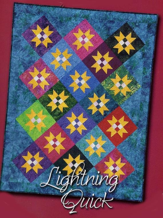 lightning quick throw quilt pattern debbie caffrey for debbies creative moments inc dcm 015 2005 k0873 9 Modern Debbie Caffrey Quilt Patterns Inspirations